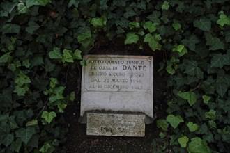 Ravenna, Italy - April 22, 2017: Dante's tomb