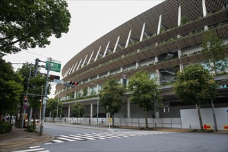 Tokyo, Japan. 21st July, 2020. Japan National Stadium in Shinjuku City which will be use for the Olympic Games Tokyo 2021.Due to the Covid-19 outbreak, the Olympic Games Tokyo 2020 were postponed for ...