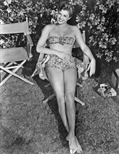 Esther Williams. American competitive swimmer and actress born august 8 1921, died june 6 2013.