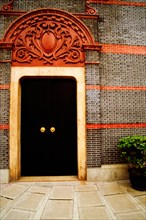 Closed door of a building, Shanghai, China