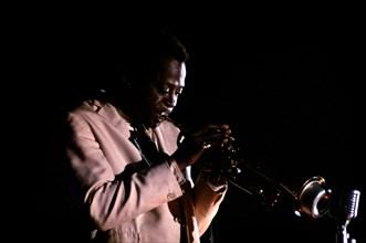 MILES DAVIS US jazz musician