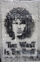 """""""The West is the Best"""", Jim Morrison stensil, La Paz ,Bolivia, South America"""