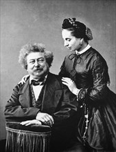 ALEXANDRE DUMAS French writer 1802 to 1870 with wife Marie about 1860. His most famous novel is The Three Musketeers (1844)