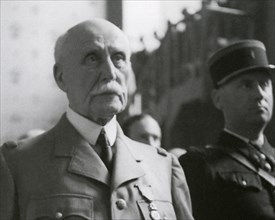 MARSHAL PHILIPPE PETAIN (1856-1951) French general at his trial for collaboration in August 1945