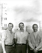 Apollo 11 flight crew, Neil A. Armstrong, Michael Collins and Buzz Aldrin