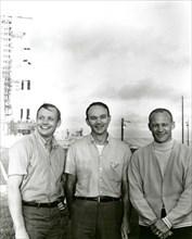 Apollo 11 flight crew, Neil A. Armstrong, Michael Collins and Buzz Aldrin