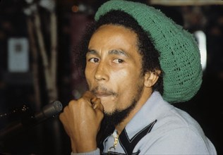 BOB MARLEY at M.S.G. concert in New York 1978.e0304.Supplied by   Photos, inc.(Credit Image: © Supplied By Globe Photos, Inc/Globe Photos/ZUMAPRESS.com)