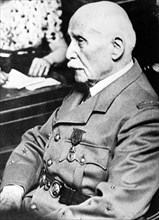 Portrait of Marshal Philippe Pétain, Chief of State of the so-called Vichy France, during his trial about his collaboration, in Paris, France, in July/August 1945. Photo. Berliner Verlag/Archiv