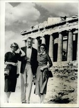 Jun. 09, 1956 - Gary Cooper And Family In Athens.. Screen Star Views The Ruins.. Screen star Gary Cooper - with his wife and daughter - seen during a tour of some of the ancient ruins - soon after the...
