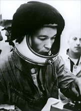 Jul 20, 1966; Cape Canevral, FL, USA; American Astronaut MICHAEL COLLINS, running tests for the mission. (Credit Image: ©