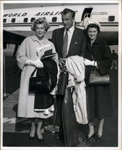 Mar. 31, 2012 - Gary Cooper, His Wife And Daughter, Maria, 17 Years Old, Are Shown As They Boarded A Trans World Airlines Plane