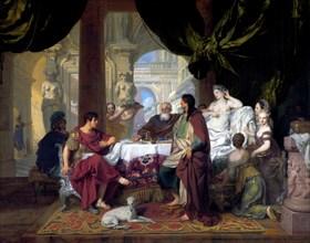 Cleopatra's Banquet - by Gerard de Lairesse 1675 - 1680