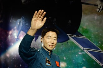 Shanghai, China. 01st Sep, 2015. The wax figure of the Chinese astronaut Yang Liwei in Madame Tussaud's wax museum in Shanghai, China, 01 September 2015. Photo: Jens Kalaene/dpa/Alamy Live News