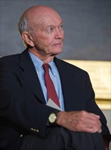 Apollo 11 astronaut and command module pilot Michael Collins during a Congressional Gold Medal ceremony honoring astronauts Neil Armstrong, Buzz Aldrin, John Glenn and Collins in the Rotunda at the US...