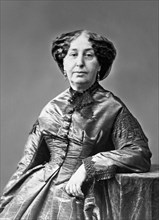 George Sand. Portrait of the French writer, George Sand (Amantine-Lucile-Aurore Dupin: 1804-1876), famous for her affair with the composer Frederic Chopin. Photo by Nadar [Gaspard Félix Tournachon], c...