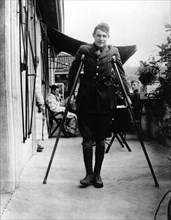 Ernest Hemingway recuperates from wounds in Milan, 1918
