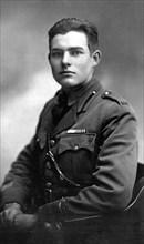 Ernest Hemingway, Ernest Miller Hemingway (1899 – 1961) American novelist. Hemingway in uniform in Milan, 1918