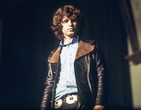 """Jim Morrison, singer of the US rock band """"The Doors"""", 1968 in Germany. 