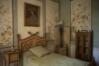 Nohant-Vic, the castle of George Sand (Le château de George Sand). Interior. A sleeping room. Schlafzimmer