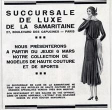 publicité ancienne.1 mars 1930.collection de modèles de haute couture et de sports