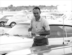 Apollo 11, Michael Collins Arrives at KSC, 1969