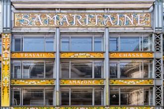 Samaritaine department store shop sign - Paris