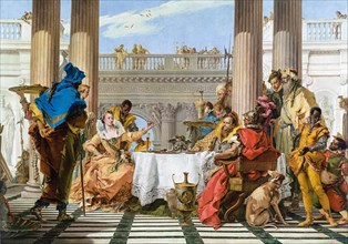 Giovanni Battista Tiepolo, The Banquet of Cleopatra, painting, c. 1743