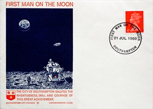 Post Office First Day Cover 1969, City of Southampton salutes the First Man on the Moon