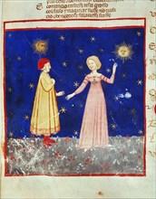 Dante e Beatrice XIV century.