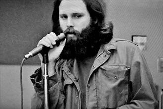 Jim Morrison singer songwriter and poet of the rock band The Doors