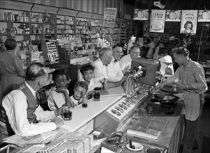 Soda shop in Madison Wisconsin, where the Southern Jim Crow laws did not apply.