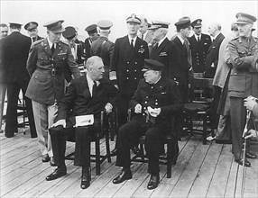 The Atlantic Charter was a pivotal policy statement issued in August 14, 1941 that, early in World War II, defined the Allied goals for the post-war world. It was drafted by the leaders of Britain and...