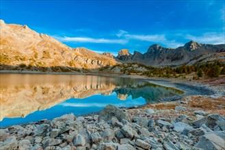France - Provence - Haut Verdon - Lac Allos in autumn version