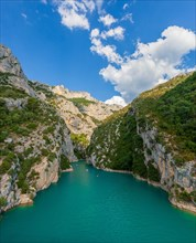 The Sainte croix lake and the canyon of Verdon River.National Park Mercantour. Alps of High Provence