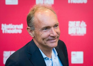Sir Tim Berners-Lee arrives at the National Theatre's Great Britain opening night at the Theatre Royal Haymarket - London