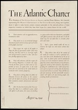 The famous Atlantic Charter signed in 1941 by Roosevelt and Churchill also known as The Joint Declaration