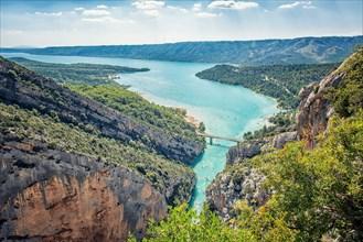 Sainte Croix lake in Provence, France