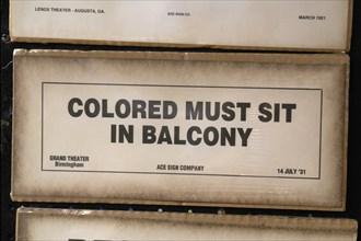 P24 009 Afroamerican Music Fest, Balcony Sign, Segregation, Hart Plaza, Detroit
