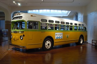 Rosa Parks bus on display at the Henry Ford Museum in Dearborn Michigan