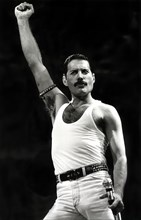 Freddie Mercury stealing the show at Live Aid in July 1985
