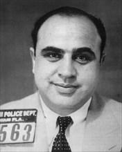 AL CAPONE  (1899-1947) Italian-American gangster in Miami Police photo of 1931