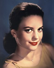 A color portrait of the film star Natalie Wood pictured in Los Angeles in 1955