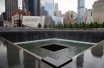 New York, NY - The 9/11 Memorial, commemorating the September 11, 2001 attacks on the World Trade Center and the Pentagon.