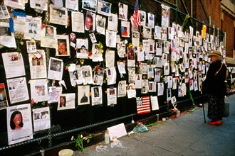 New York City, 9/11/2001. Lexington Avenue. Missing Persons Following World Trade Center Attack