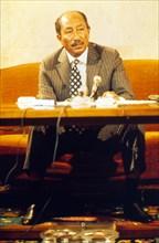 Mar. 30, 1974 - CL10971/4-D.PRESIDENT ANWAR SADAT OF EGYPT.03/30/1974.   PHOTOS(Credit Image: © Globe Photos/ZUMAPRESS.com)