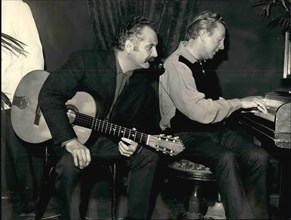 Dec. 12, 1965 - Brassens to sing Trenet's Song: Georges Brassens, the Famous French ' Reacist' Singer is now rehearsing the song written specially for him by another famous singer-composer, Charles Tr...