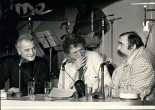 Nov. 02, 1979 - Georges Brassens, Jacques Martin, and Moustache