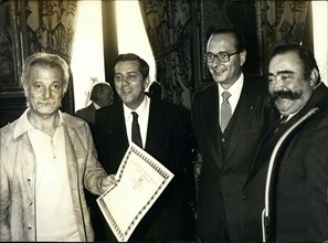 Dec. 06, 1979 - Georges Brassens made a CD with Moustache, which won them the Grand Prize of the French Disc Academy at the Paris city hall.