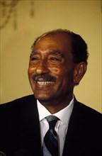 Aug 06, 1981; Washington, DC, USA; President of Egypt ANWAR EL-SADAT during his state visit to the US..
