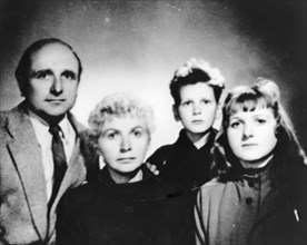 KLAUS BARBIE (1913-1991) SS office and Gestapo member with his family about 1970